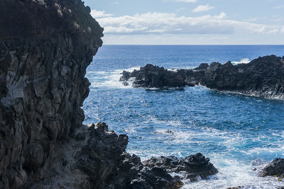 The craggy cliffs, the blue Pacific and an endless horizon.