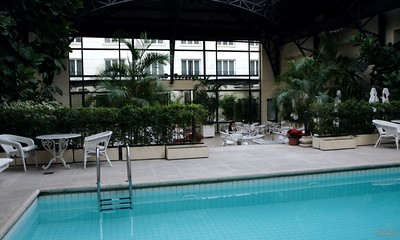 Pool inside the restaurant area