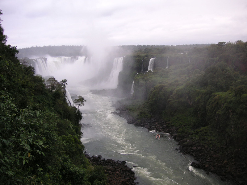 The Devils's throat viewed from the Brazilian side.