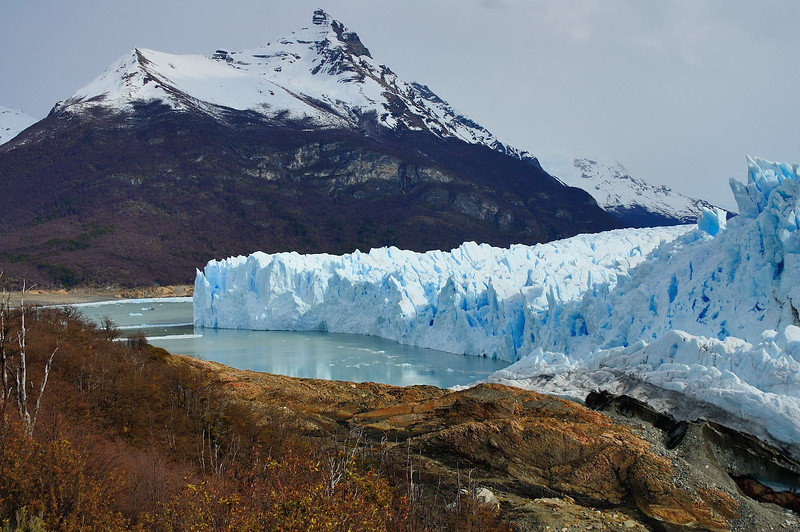 A view from the northern end of the glacier looking south.