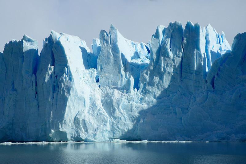 Close to the face of Perito Moreno Glacier as it meets Lago Argentino.