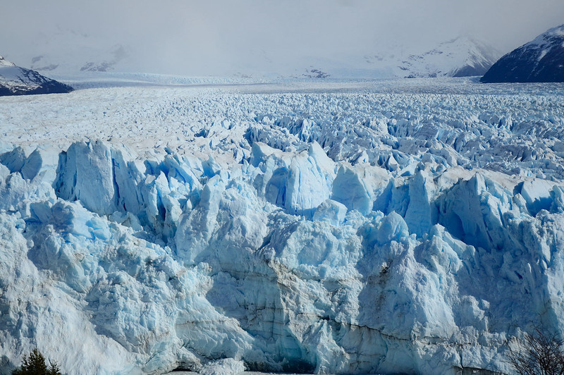 Perito Moreno Glacier - looking west, at point where rupture occurs. The sheer scale of the glacier is staggering.