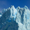 Up close to the face of the Perito Moreno Glacier where it terminates in the Lago Argentino.