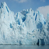 Up close to the face of the Perito Moreno Glacier where it terminates in Lago Argentino.