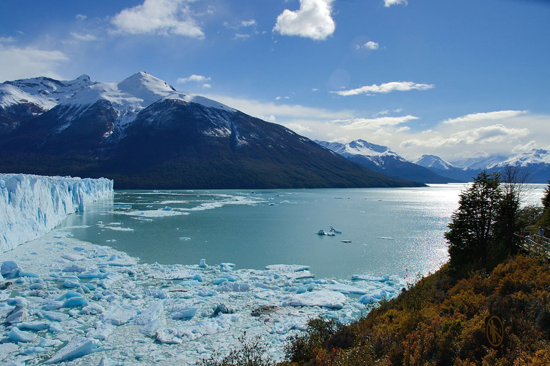 The north end of the glacier. View to east down Lago Argentino.