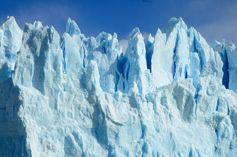 Close up to Perito Moreno Glacier in Lago Argentino.