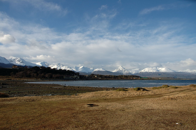 Looking towards the southeast. The Beagle Channel is on extreme right.