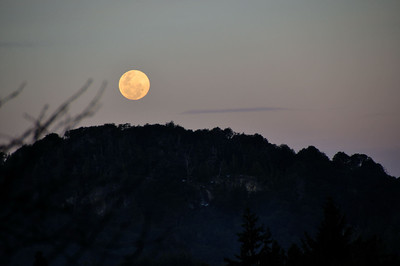 Full moon at Llao Llao.