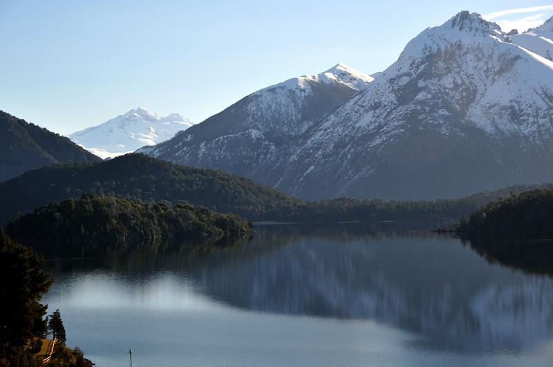 Looking across Lago Perito Moreno from Llao Llao.