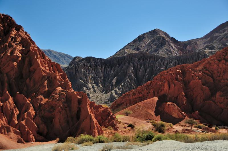 About to enter Purmamarca via the Paseo de Los Colorados in the north of Salta province.