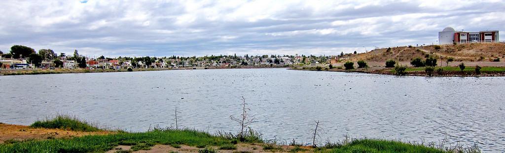 Lake at Trelew City Park.