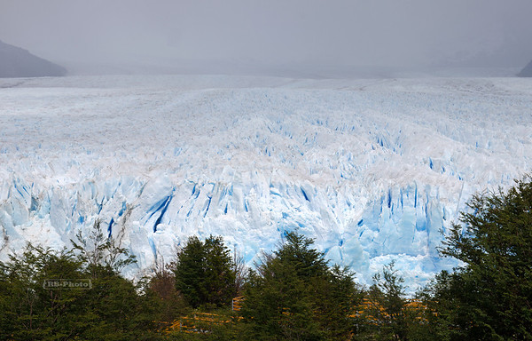 View from the Magellan Peninsula over the blue ice of the Perito Moreno Glacier, South Patagonia, Argentina