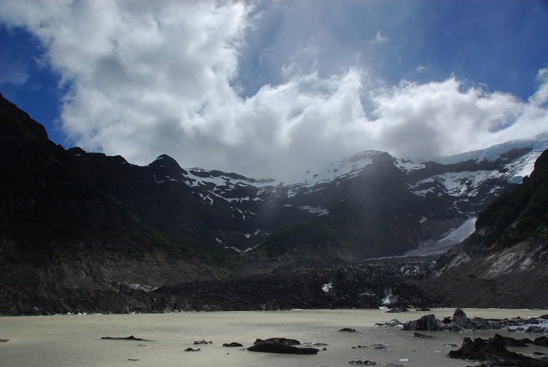 "The ""Black Glacier"" in the Nahuel Huapi National Park."