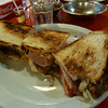 Amazing lomo sandwich in Mendoza.