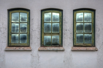 The windows and reflections made for an interesting picture. HDR photo.