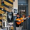 San Telmo fair, street performer.