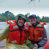Sasha and I on the raft during our ecological tour. Photo courtesy of Aaron Meyers.