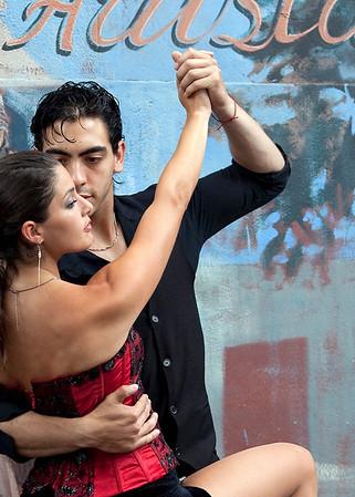 Tango at La Boca neighborhood, Buenos Aires, Argentina