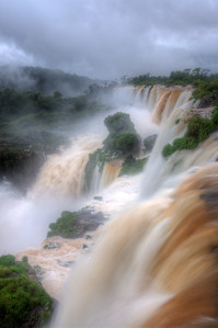 HDR photo from the upper trail at Iguazu falls.
