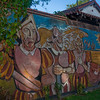 Colorful murals in Corrientes. One of the most famous murals in Latin America, they actually are carved into the wall.