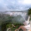 Salto San Martin, Salto Mbigua, Salto Bernabe Mendez, and Salto Bossetti at Iguazu Falls. HDR photo.