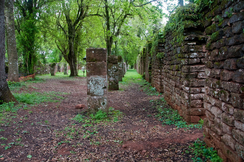 After Iguazu, we traveled to the San Ignacio missions. This is a view of what used to be the houses.