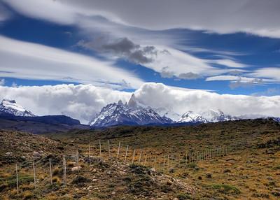 Leaving El Chalten, Argentina