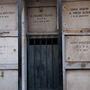 Inside the Recoleta Cemetery in Buenos Aires, which was filled with rows of masuoleums. Some of the masuoleums held generations of families.