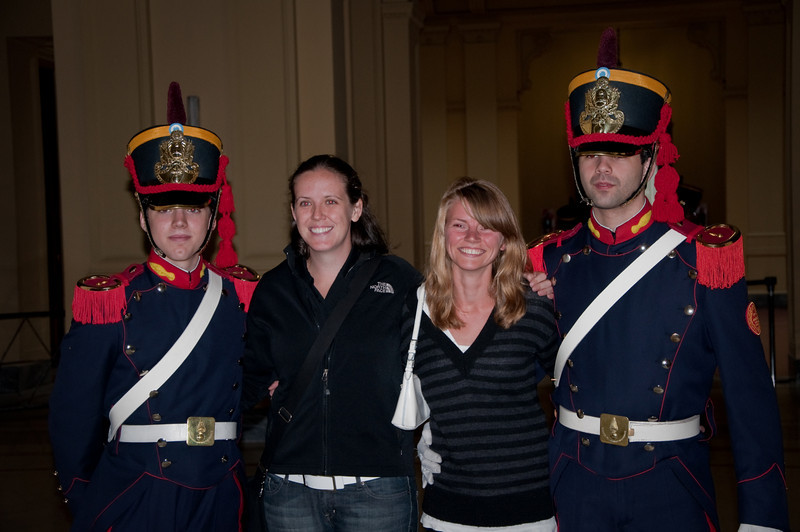 We posed with the guards for some pictures before getting a tour of the Pink Palace.