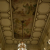 This was one of the more formal rooms, with a painting on the ceiling and a huge chandelier.