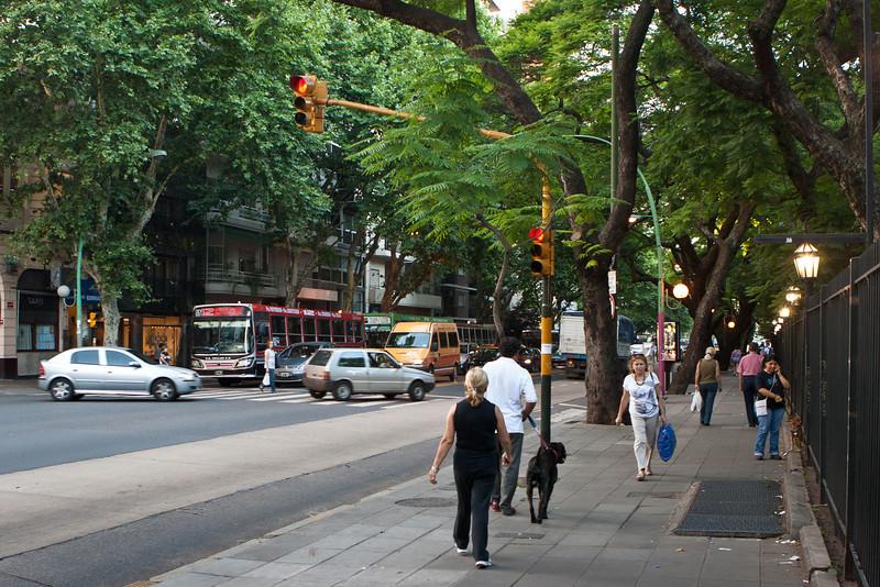 Avenida Santa Fe, Recoleta district, Buenos Aires. <br /> My first day in Buenos Aires I took a long walk down Aveida Santa Fe.
