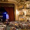 El Ateneo bookstore, from a converted theater.<br /> The stage is converted into a coffee shop. There is seating up in the boxes for reading.