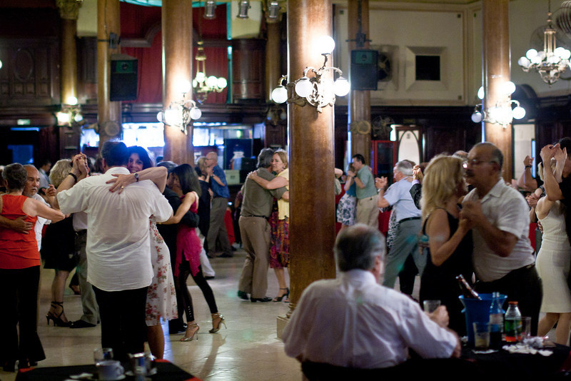 """The <a href=""""http://www.confiteriaideal.com/public/Galeria/home""""><span style=""""color:#7CFC00"""">Confiteria Ideal</span></a>.  I had to check out a place where the real Tango is danced. Not the foo-foo Tango-for-the-tourists."""