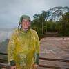 Akwardly posing on the upper trail at Iguazu Falls.