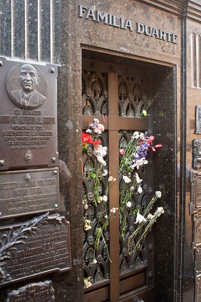 Evita's tomb, Recoleta Cementery.