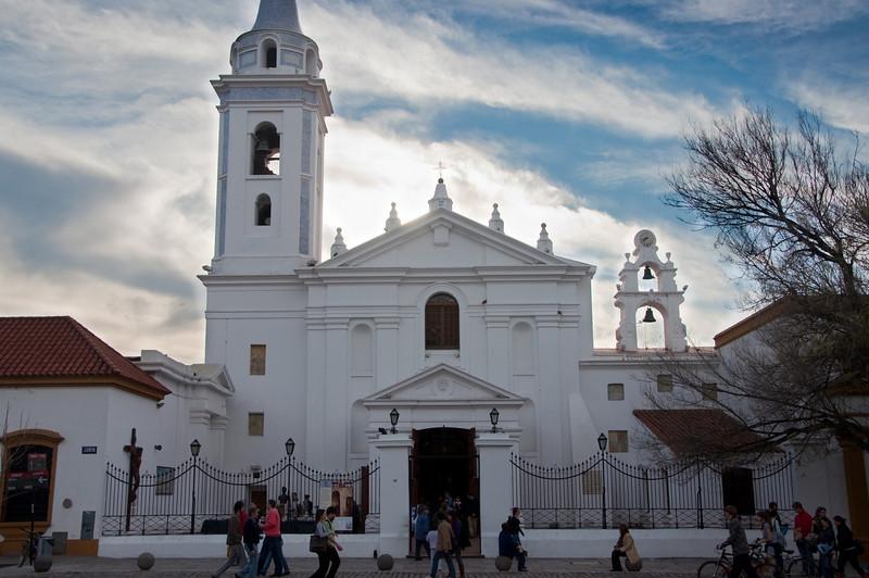 A church next to the Recoleta Cemetery.