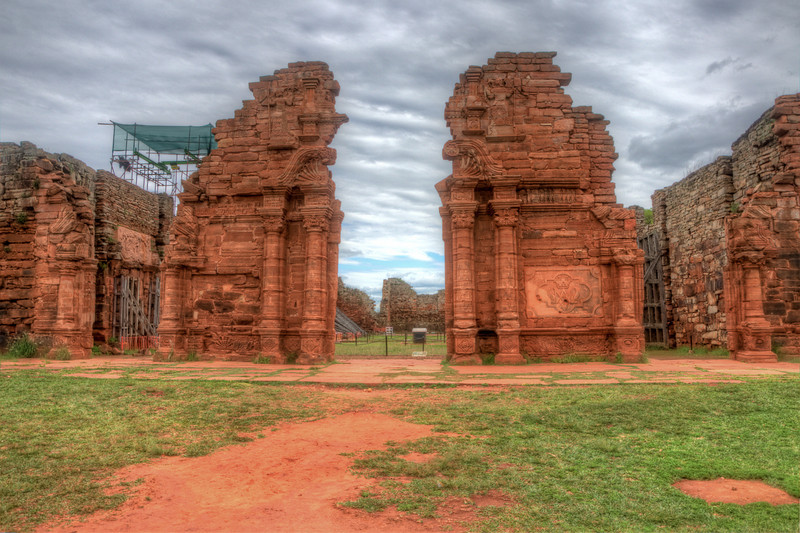 Front view of the church at the San Ignacio missions. HDR photo.
