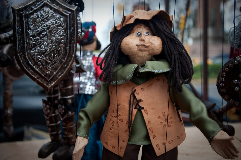 At one of the markets in Buenos Aires, there was a vendor with these puppets. I thought they made for an interesting photo.