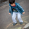 A kid was playing hopscotch in one of the plazas we passed in Buenos Aires.