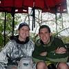 Sasha and I waiting for our ecological tour. Photo courtesy of Aaron Meyers.