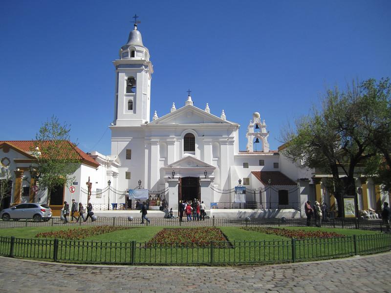 Basilica de Nuestra Senora Del Pilar. Jesuit church in Recoleta.