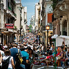 San Telmo's Sunday market streches down Calle Defensa.