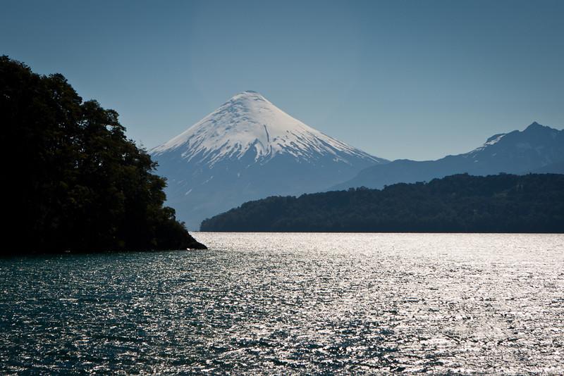 Volcan Osorno, Lake Todos Santos, Chile.
