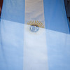 The Argentinian flag hanging outside Iguazu Falls.