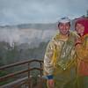 Aaron and Sammi on the upper trail at Iguazu Falls.