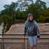 Sasha on the upper trail at Iguazu Falls.