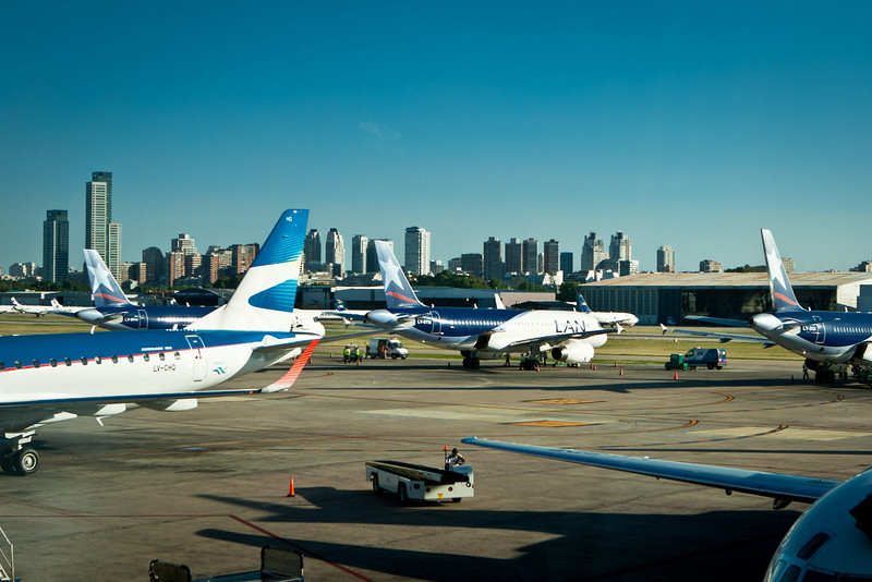 BA´s domestic airport.<br /> Flying from Buenos Aires to Bariloche.