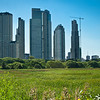 New highrises.<br /> Puerto Madero, the newest barrio in Buenos Aires. <br /> Barely 20 years old, built on landfill.