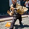 San Telmo Feria, street performer.