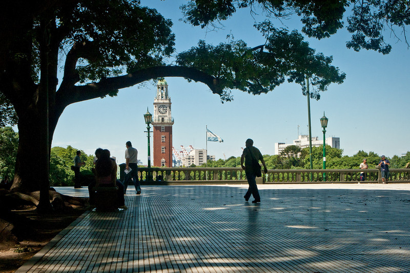 Plaza San Martin<br /> Looking towards Little Big Ben and Retiro.